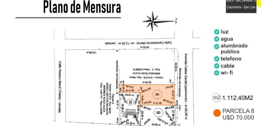 LOTE DE 1112M2 MERLO