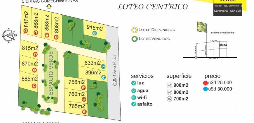 LOTEO CÉNTRICO EN CARPINTERÍA
