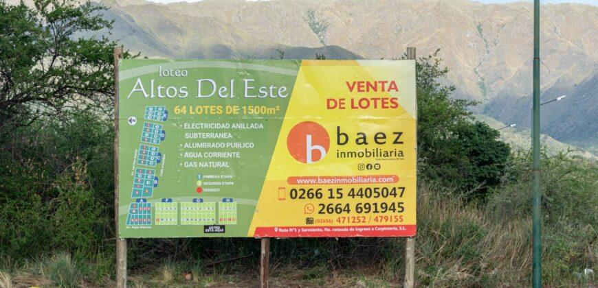 """LOTEO """"ALTOS DEL ESTE"""" EN MERLO"""